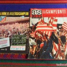 Coleccionismo deportivo: AS COLOR Nº 105 Y REVISTA ATLÉTICO DE MADRID Nº 56 CAMPEÓN DE LIGA 1973. PÓSTER REAL ZARAGOZA.. Lote 287592943
