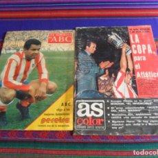 Coleccionismo deportivo: AS COLOR ATLÉTICO DE MADRID CAMPEÓN COPA DEL REY 1976. ABC LUIZ PEREIRA Nº UNO TEMPORADA 1977.. Lote 287595593