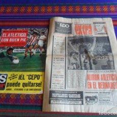 Coleccionismo deportivo: PUEBLO ATLÉTICO DE MADRID CAMPEÓN DE LIGA 1977 Y AS COLOR 329 PÓSTER ATLÉTICO DE MADRID CAMPEÓN. Lote 287597298