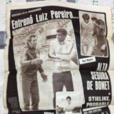 Collezionismo sportivo: AS (5-1-1983) LUIS ARAGONES LUIZ PEREIRA MUERTE GASPAR RUBIO REAL MADRID GATTI JESUS NARRO REMO. Lote 288071178