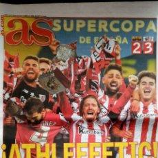 Coleccionismo deportivo: DIARIO AS ATHLETIC BILBAO CAMPEON SUPERCOPA 2021. Lote 288304088