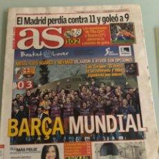 Coleccionismo deportivo: 21-12-2015 RIVER FC BARCELONA FINAL MUNDIAL CLUBS. Lote 288319818