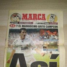 Coleccionismo deportivo: PERIÓDICO MARCA 15 JUNIO 1997 REAL MADRID LIGA. Lote 288542723