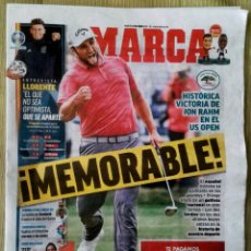 Coleccionismo deportivo: DIARIO MARCA GOLF RAHM CAMPEÓN US OPEN. Lote 288542808