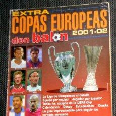 Coleccionismo deportivo: DON BALÓN EXTRA COPAS EUROPA LIGA CAMPEONES CHAMPIONS LEAGUE 2001 2002 FÚTBOL 01/02. REAL ZARAGOZA. Lote 288572718