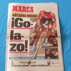 Coleccionismo deportivo: PERIÓDICO DEPORTIVO MARCA - ASÍ GANA MIGUEL ¡GO-LA-ZO! 12/07/94. Lote 288899583