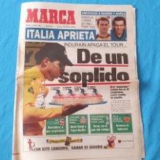 Coleccionismo deportivo: PERIÓDICO DEPORTIVO MARCA - DE UN SOPLIDO - 16/07/94. Lote 288901793