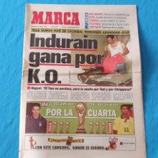 Coleccionismo deportivo: PERIÓDICO DEPORTIVO MARCA - INDURAIN GANA POR K.O. - 17/07/94. Lote 288902293