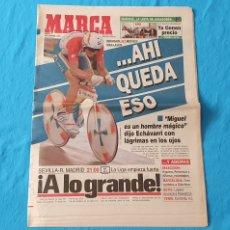 Coleccionismo deportivo: PERIÓDICO DEPORTIVO MARCA - ... AHÍ QUEDA ESO - 03/09/94. Lote 288908568