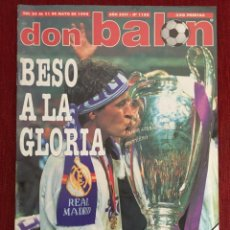 Coleccionismo deportivo: DON BALON FINAL UEFA CHAMPIONS LEAGUE 1997 1998 REAL MADRID 1-0 JUVENTUS POSTER. Lote 289207878