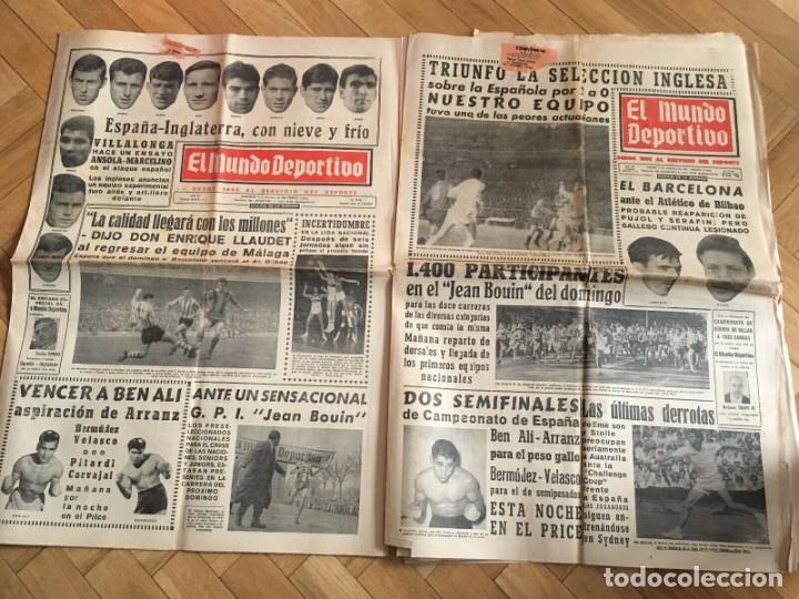MUNDO DEPORTIVO (8-12-1965)(9-12-1965) ESPAÑA 0-2 INGLATERRA ESTADIO BERNABEU (Coleccionismo Deportivo - Revistas y Periódicos - Mundo Deportivo)