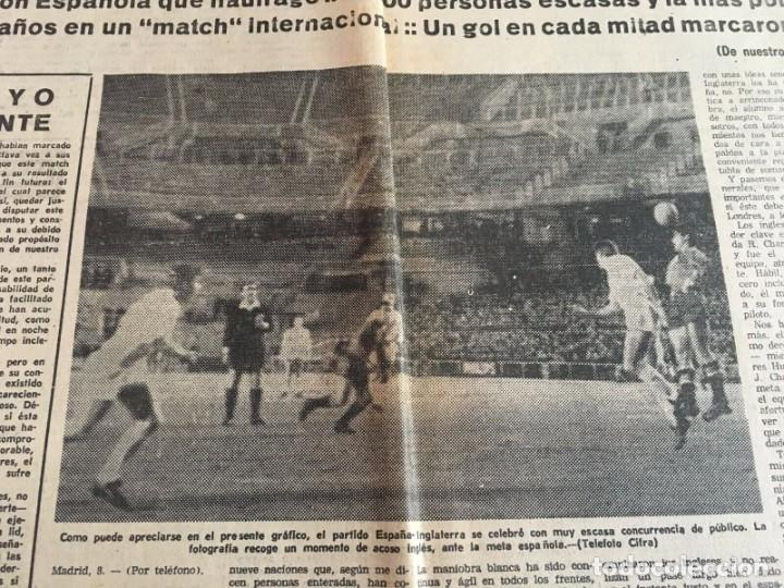Coleccionismo deportivo: MUNDO DEPORTIVO (8-12-1965)(9-12-1965) ESPAÑA 0-2 INGLATERRA ESTADIO BERNABEU - Foto 5 - 289210543
