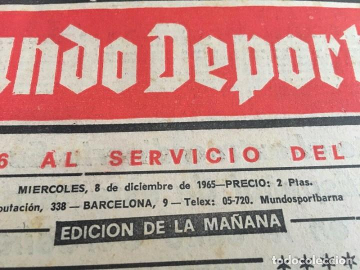 Coleccionismo deportivo: MUNDO DEPORTIVO (8-12-1965)(9-12-1965) ESPAÑA 0-2 INGLATERRA ESTADIO BERNABEU - Foto 7 - 289210543