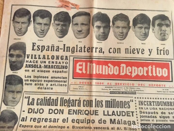 Coleccionismo deportivo: MUNDO DEPORTIVO (8-12-1965)(9-12-1965) ESPAÑA 0-2 INGLATERRA ESTADIO BERNABEU - Foto 8 - 289210543