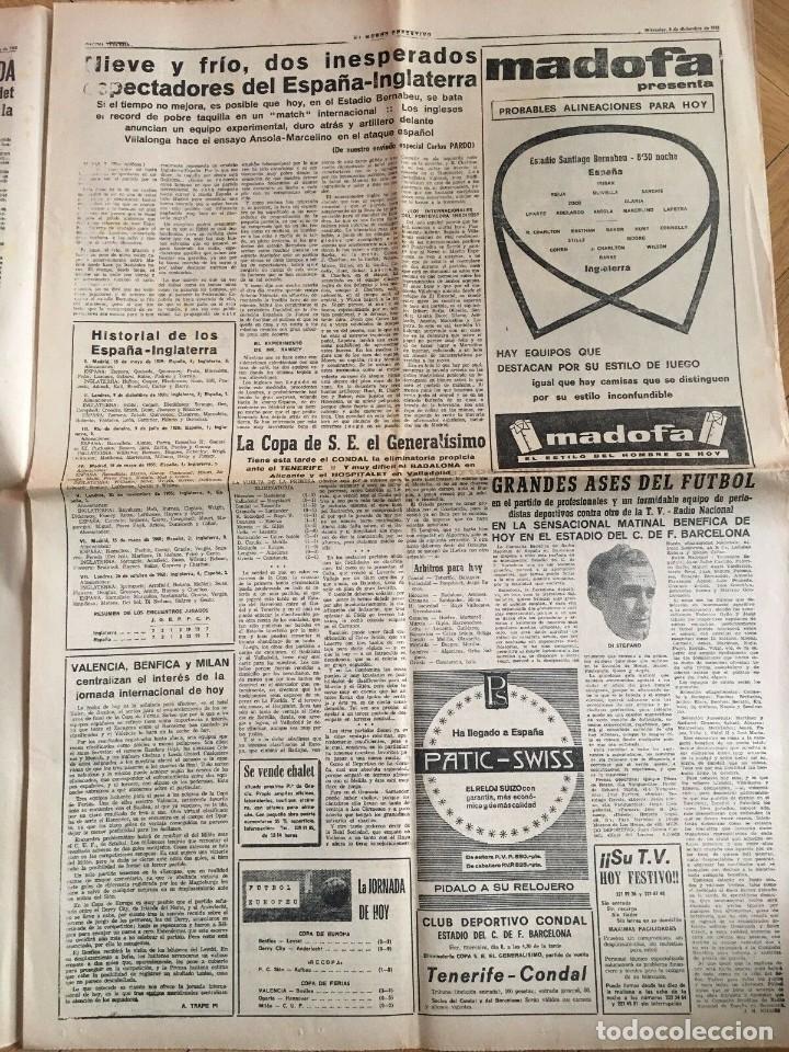 Coleccionismo deportivo: MUNDO DEPORTIVO (8-12-1965)(9-12-1965) ESPAÑA 0-2 INGLATERRA ESTADIO BERNABEU - Foto 9 - 289210543
