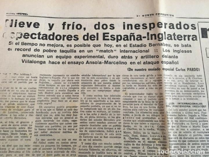 Coleccionismo deportivo: MUNDO DEPORTIVO (8-12-1965)(9-12-1965) ESPAÑA 0-2 INGLATERRA ESTADIO BERNABEU - Foto 11 - 289210543