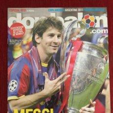 Coleccionismo deportivo: REVISTA DON BALON FINAL UEFA CHAMPIONS LEAGUE 2011 BARCELONA MANCHESTER UNITED MESSI. Lote 289211308
