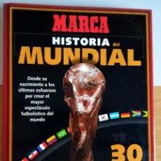 Coleccionismo deportivo: FICHERO MUNDIAL DE FUTBOL FRANCIA 98 + HISTORIA MUNDIAL MARCA COMPLETO 50 FICHAS. Lote 289709678