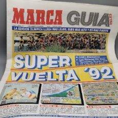 Coleccionismo deportivo: MARCA NUMERO EXTRA. GUIA VUELTA CICLISTA A ESPAÑA. AÑO 1992. VUELTA '92. PERICO DELGADO. CICLISMO. Lote 289851583