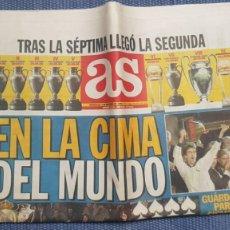 Coleccionismo deportivo: AS. EN LA CIMA DEL MUNDO. CAMPEÓN INTERCONTINENTAL. REAL MADRID. Lote 289880303