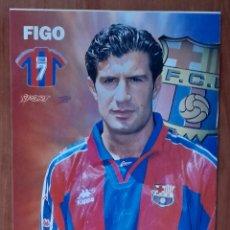 Coleccionismo deportivo: FOTOGRAFÍA DE FIGO ..... .. ... F. C. BARCELONA. VER FOTOS Y DESCRIPCIÓN.. Lote 289884248