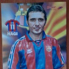 Coleccionismo deportivo: FOTOGRAFÍA DE HAGI . F.C. BARCELONA. VER FOTOS Y DESCRIPCIÓN.. Lote 289890118