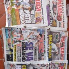 Coleccionismo deportivo: LOTE 6 PERIÓDICOS MARCA,AÑOS 2012 Y 2014,REAL MADRID, CRISTIANO RONALDO. Lote 290530168