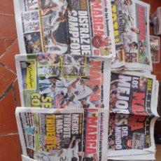 Coleccionismo deportivo: LOTE 7 PERIÓDICOS MARCA, REAL MADRID,CRISTIANO RONALDO. Lote 290535893