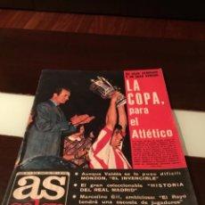 Coleccionismo deportivo: AS COLOR , LA COPA PARA EL ATLETICO ,N °267 JUNIO 1976, POSTER SELECCION DE CHECOSLOVAQUIA. Lote 290615928