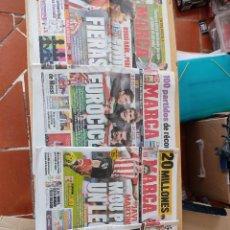 Coleccionismo deportivo: LOTE 4 PERIÓDICOS MARCA, ATHLETIC CLUB DE BILBAO. Lote 290679648