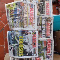 Coleccionismo deportivo: LOTE 7 PERIÓDICOS MARCA, REAL MADRID, BARCELONA,ATL. MADRID.. Lote 290681413