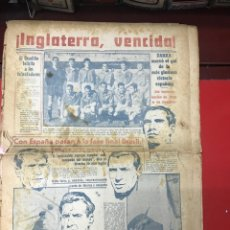 Coleccionismo deportivo: PERIÓDICO MARCA VICTORIA ESPAÑA INGLATERRA 1950. Lote 291319828