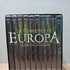 Coleccionismo deportivo: COLECCION 10 DVD,S CAMPEONATOSDE EUROPA DE FUTBOL. ( 1956 A 2006 ). Lote 292549988