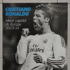 Coleccionismo deportivo: DIARIO MARCA. PÓSTER CRISTIANO RONALDO. MEJOR JUGADOR DE EUROPA 2013-2014 (DOBLE CARA). Lote 178877976