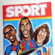 Coleccionismo deportivo: NÚMERO ESPECIAL SPORT FC BARCELONA CAMPIONS LIGA 2004/05 04 05 LEO MESSI DEBUT ROOKIE. RONALDINHO. Lote 293431003