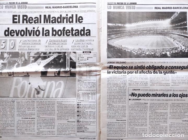 Coleccionismo deportivo: DIARIO MARCA REAL MADRID MANITA AL FC BARCELONA 5-0 1994/1995 GOLEADA LIGA TEMPORADA 94/95 BERNABEU - Foto 2 - 293543413