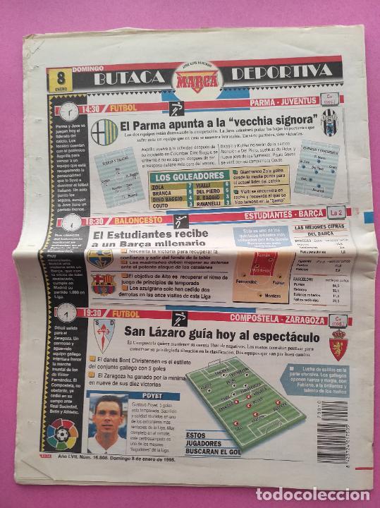 Coleccionismo deportivo: DIARIO MARCA REAL MADRID MANITA AL FC BARCELONA 5-0 1994/1995 GOLEADA LIGA TEMPORADA 94/95 BERNABEU - Foto 3 - 293543413