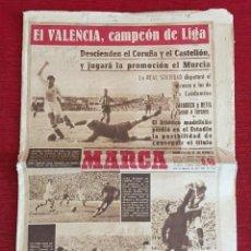 Coleccionismo deportivo: MARCA (14-4-1947) CAMPEON DE LIGA VALENCIA 6-0 REAL GIJON ATLETICO MADRID 2-3 REAL MADRID. Lote 293862783