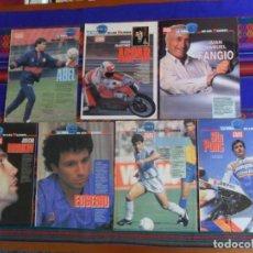 Coleccionismo deportivo: AS LA VIDA DE LOS MEJORES MARADONA SITO PONS EUSEBIO BIRIUKOV FANGIO ASPAR ABEL RESINO AÑOS 90 RAROS. Lote 294018228