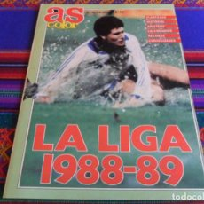 Coleccionismo deportivo: AS COLOR Nº 136 EXTRA LA LIGA 1988-89. PLANTILLAS, HISTORIAL, CALENDARIOS, ETC.... BUEN ESTADO.. Lote 294081698