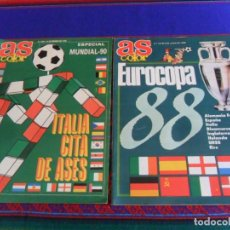 Coleccionismo deportivo: AS COLOR Nº 123 EXTRA EUROCOPA 88 Y Nº 209 ESPECIAL MUNDIAL 90 ITALIA CITA DE ASES. BUEN ESTADO.. Lote 294082253