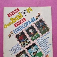 Coleccionismo deportivo: EXTRA DON BALON EURO ALEMANIA 88 - ESPECIAL GUIA EUROCOPA 1988 POSTER SELECCION ESPAÑOLA - ESPAÑA. Lote 295487433