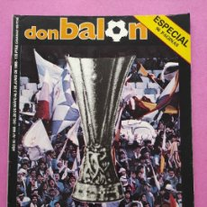 Coleccionismo deportivo: DON BALON 502 - ESPECIAL REAL MADRID CAMPEON COPA UEFA 1984/1985 - POSTER EUROMADRID 84/85 - EXTRA. Lote 295487673