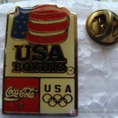 Coleccionismo deportivo: PIN DE COCA - COLA. BOXEO. BOXING TEAM. ESTADOS UNIDOS. AÑOS 90 . PERFECT.. Lote 8024168
