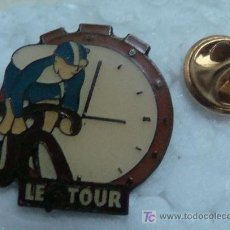 Coleccionismo deportivo: PIN DE CICLISMO. TOUR DE FRANCIA. CONTRARELOJ. LE TOUR. AÑOS 80. . Lote 11432398