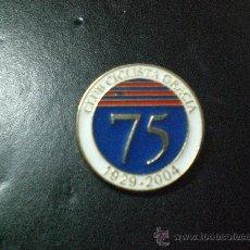 Coleccionismo deportivo: PIN CLUB CICLISTA GRACIA BARCELONA 75 ANIVERSARIO 1929 2004 PIN CONMEMORATIVO BICICLETA CICLISMO. Lote 221820576