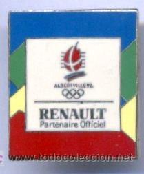 PIN ALBERTVILLE 1992. JUEGOS OLIMPICOS. RENAULT PARTENAIRE OFFICIEL. PIN FRANCES. PINS. OLIMPIADAS. (Coleccionismo Deportivo - Pins otros Deportes)