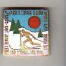Coleccionismo deportivo: IMPORTANTE PIN MEDALLA SEU D'URGELL FEBRERO 1971 SANT JOAN DE L' ERM CAMPEONATOS DE ESQUI. Lote 18703652