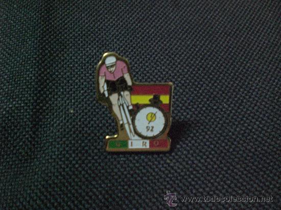 PIN PIN CICLISMO BICICLETA GIRO ITALIA CONTRARELOJ 1992 (Coleccionismo Deportivo - Pins otros Deportes)