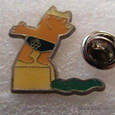 Coleccionismo deportivo: PIN OLIMPIADAS BARCELONA 92 1992. COBI. MASCOTA. NATACIÓN SALTOS TRAMPOLÍN. . Lote 31220174